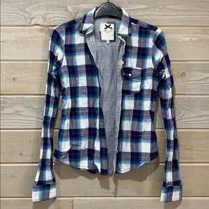 Double Layered Cotton Button Down